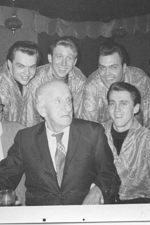 With The late Jimmy Durante