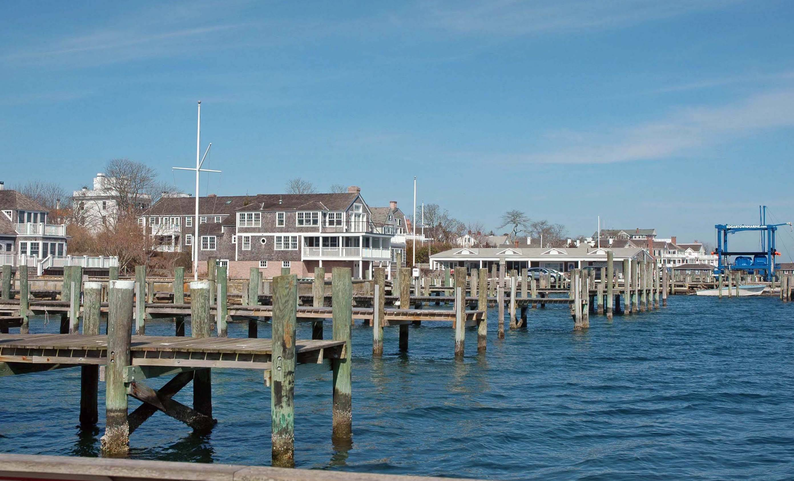 Chappy Ferry, On Time, docks at Edgartown