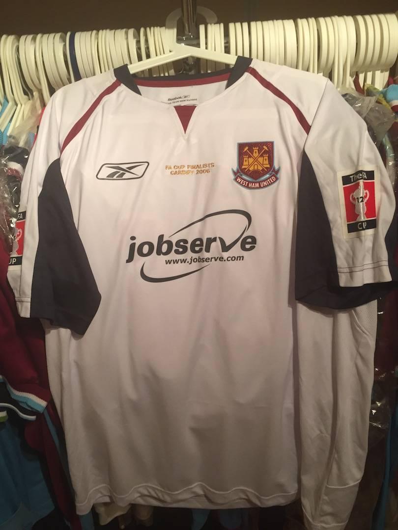 Shaun Newton´s 2006 FA cup final shirt