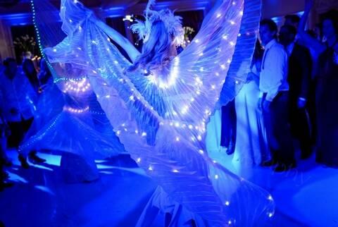 LED Dancers at a Wedding