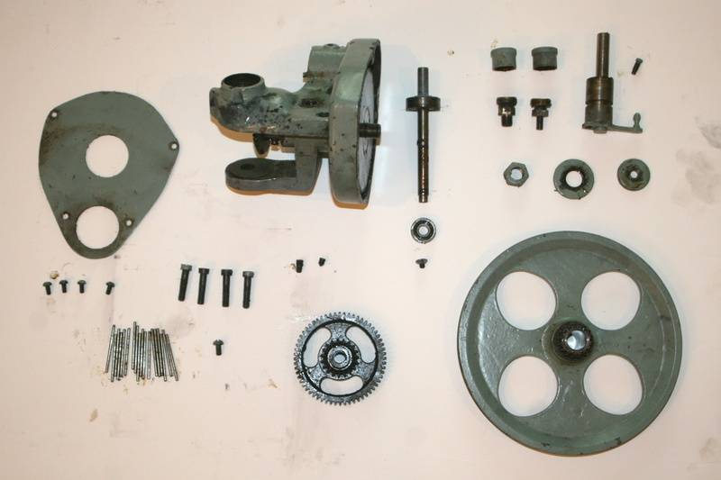 Drive system disassembled