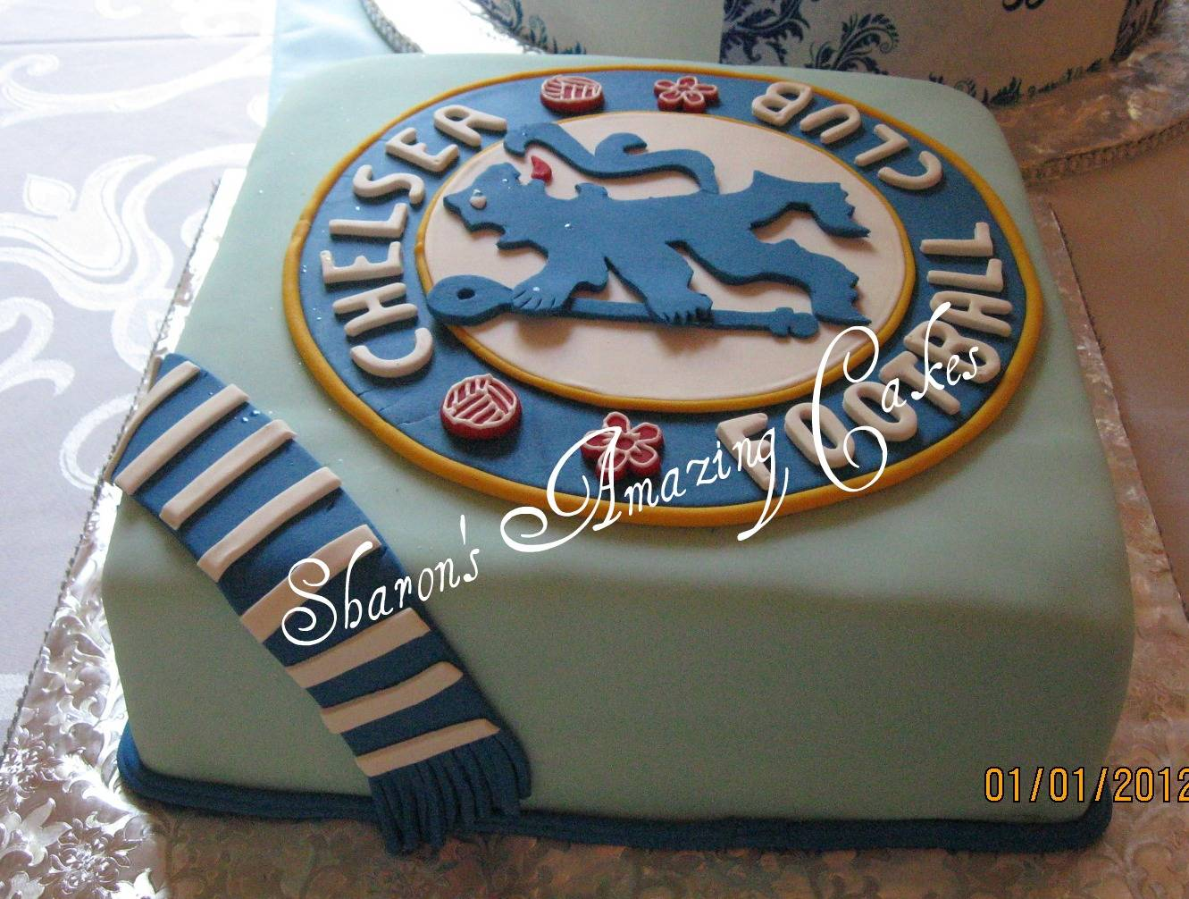 CAKE 19G -Chelsea Football Club Cake 2