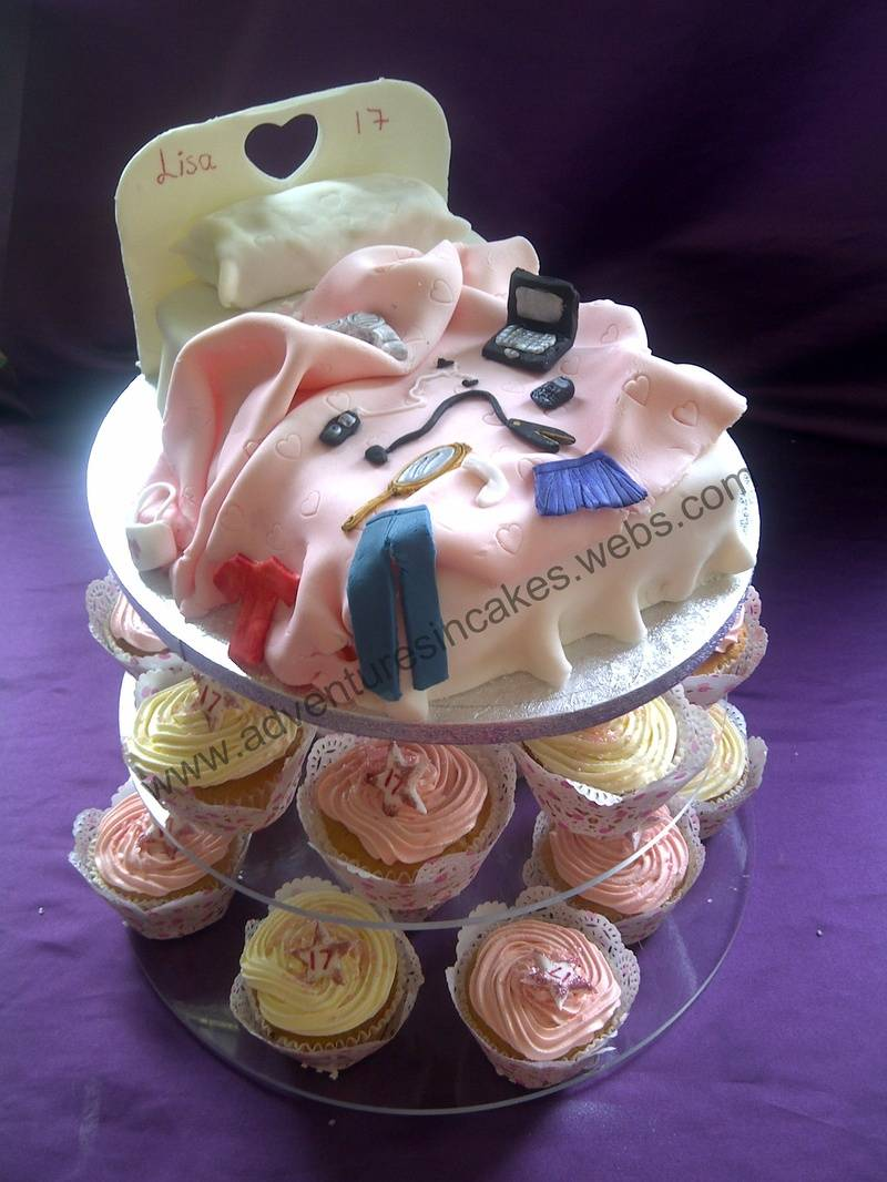Messy Bed Cake with Cupcakes