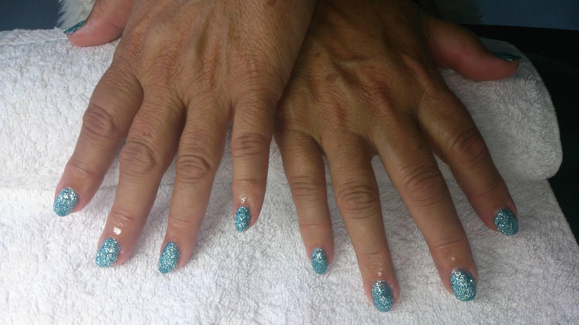 Turquoise glitter acryl