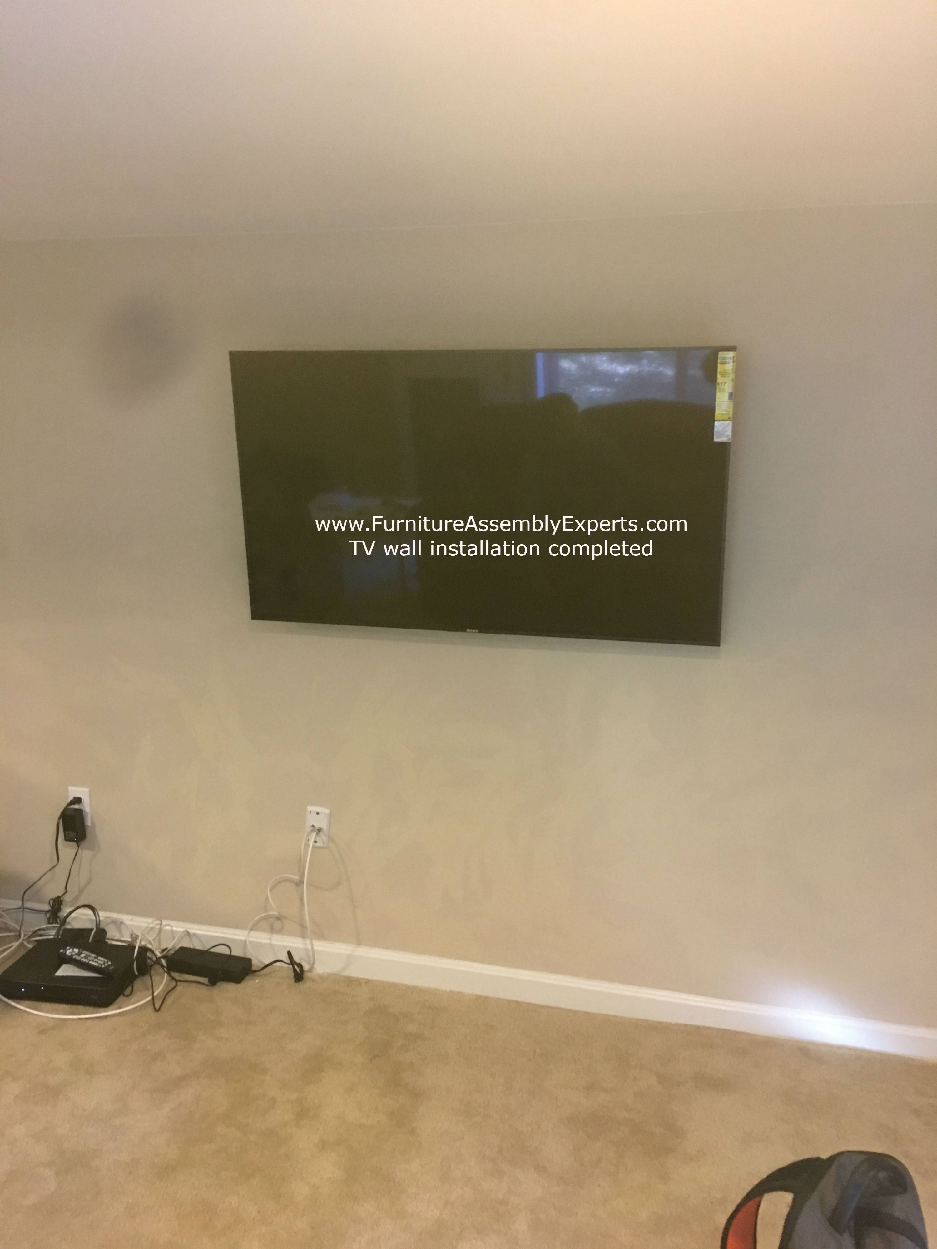 Tv wall installation in timonium Maryland