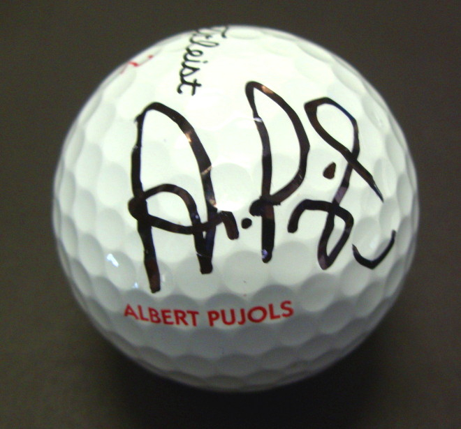 Albert Pujols Autographed Golf Ball