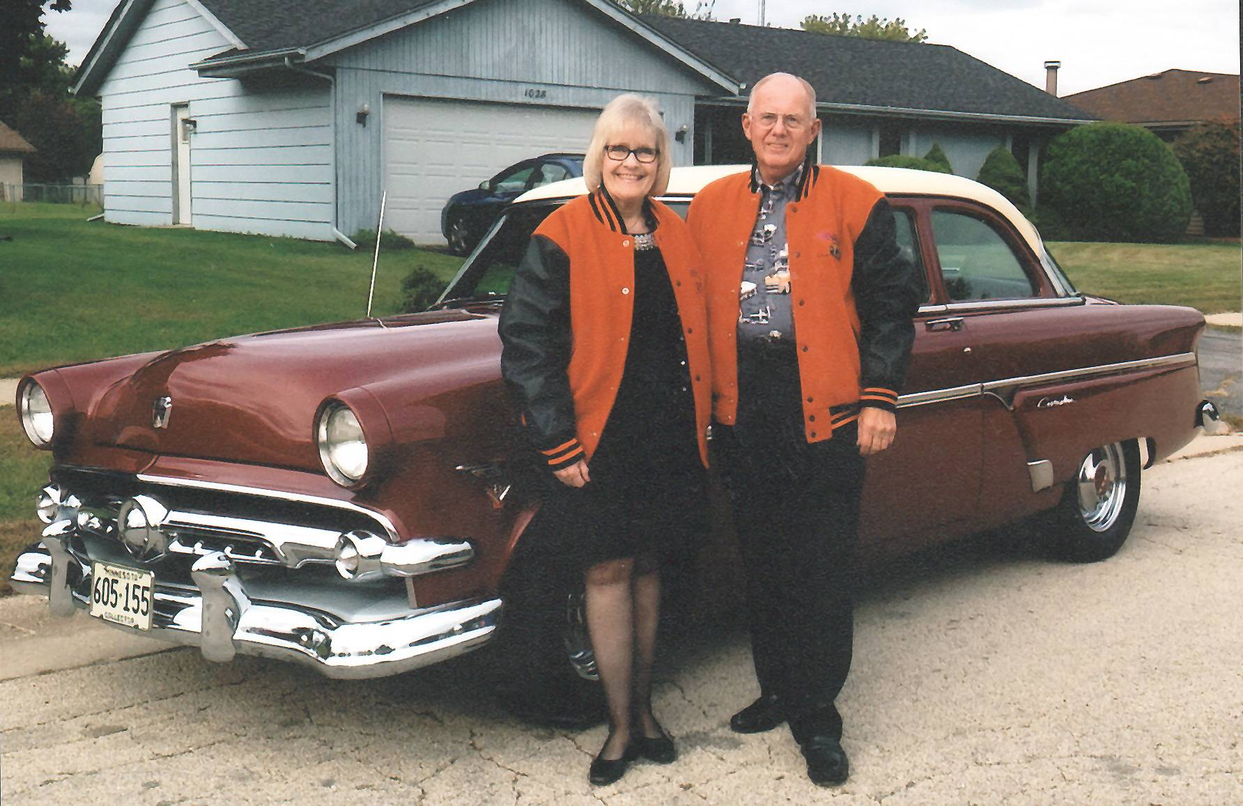 Herb and Lorna Challberg's 1954 Ford 2 dr. Customline sedan