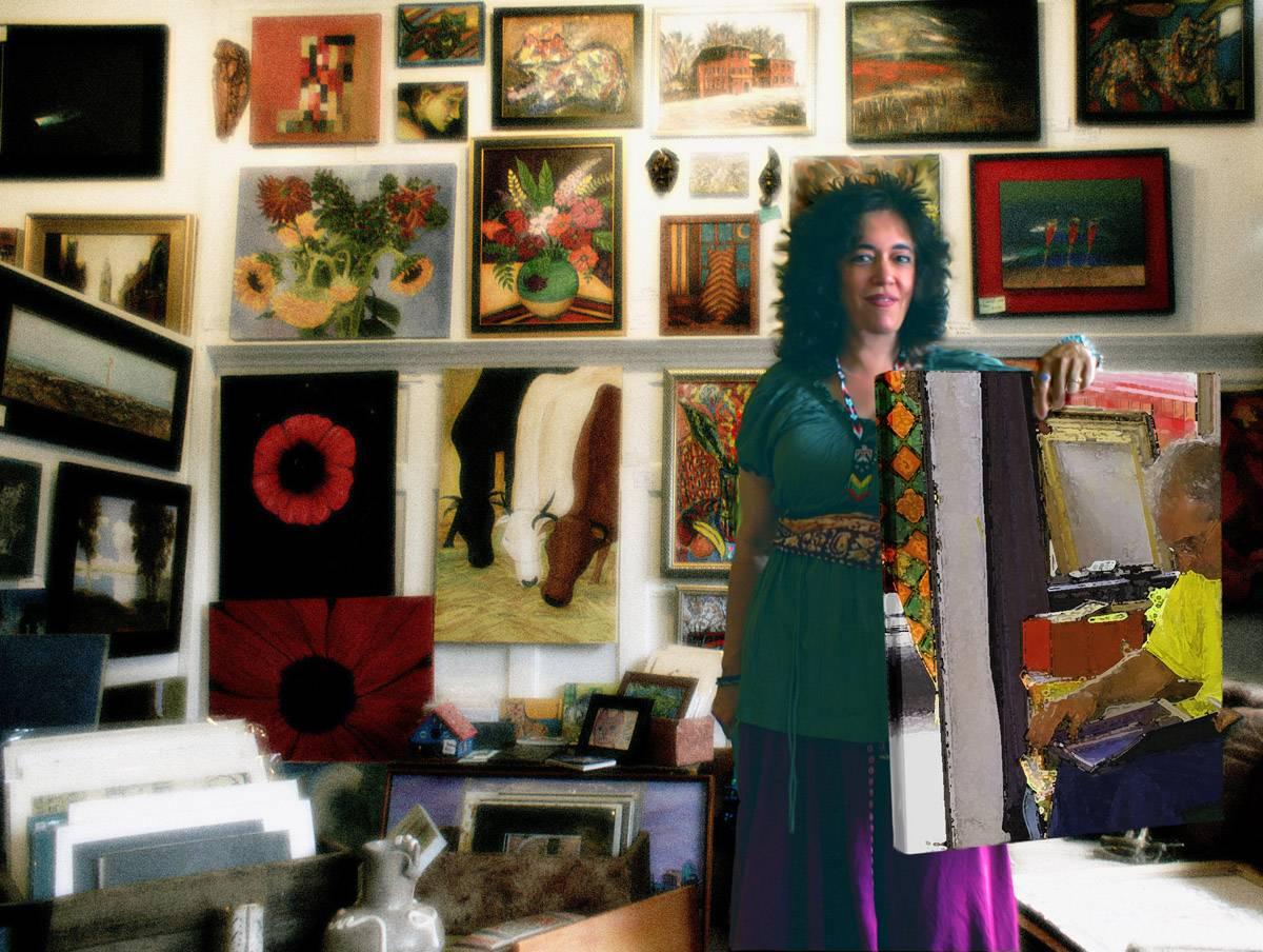 Deborah, gallery owner