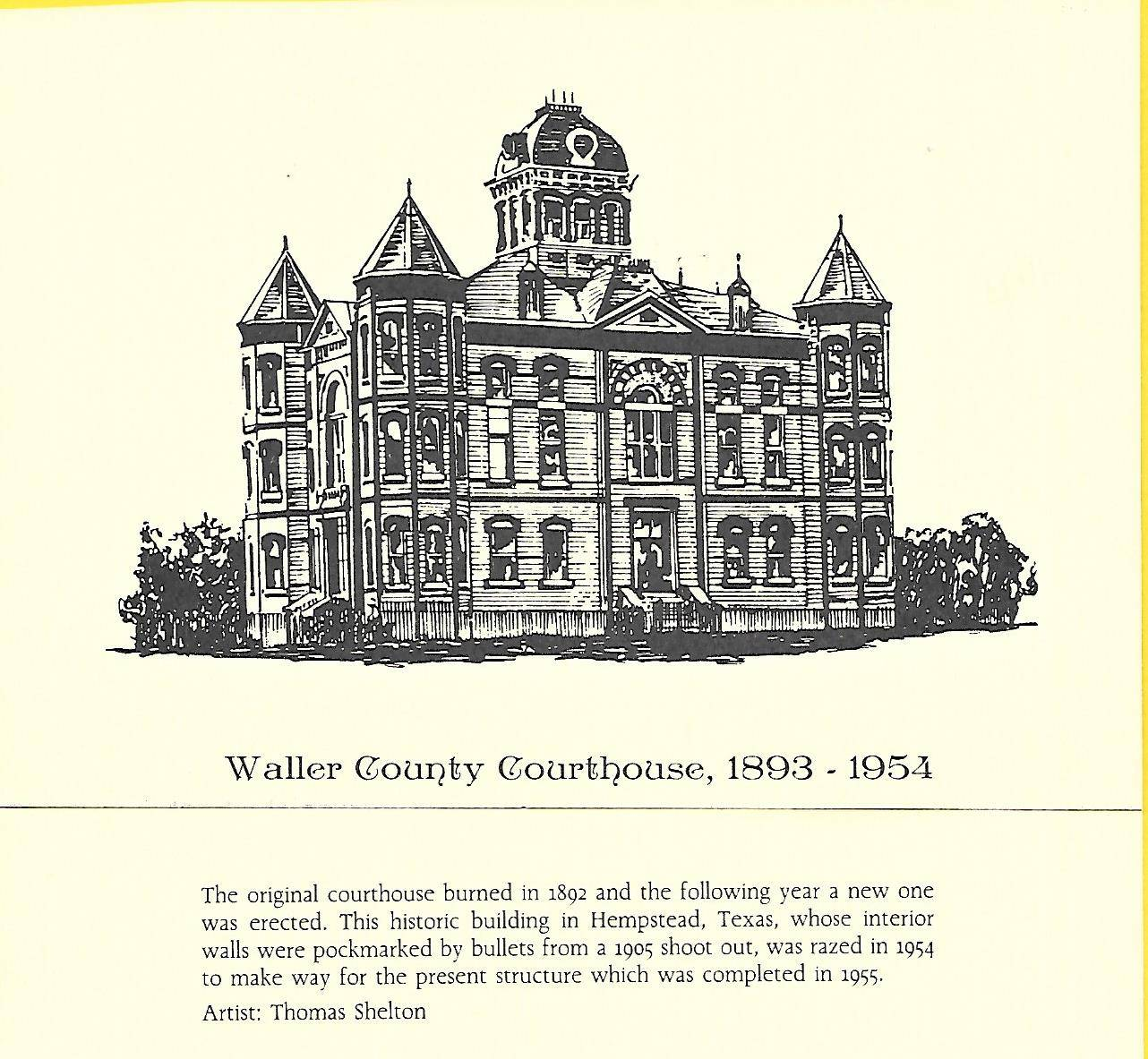 Waller County Court House 1893-1954