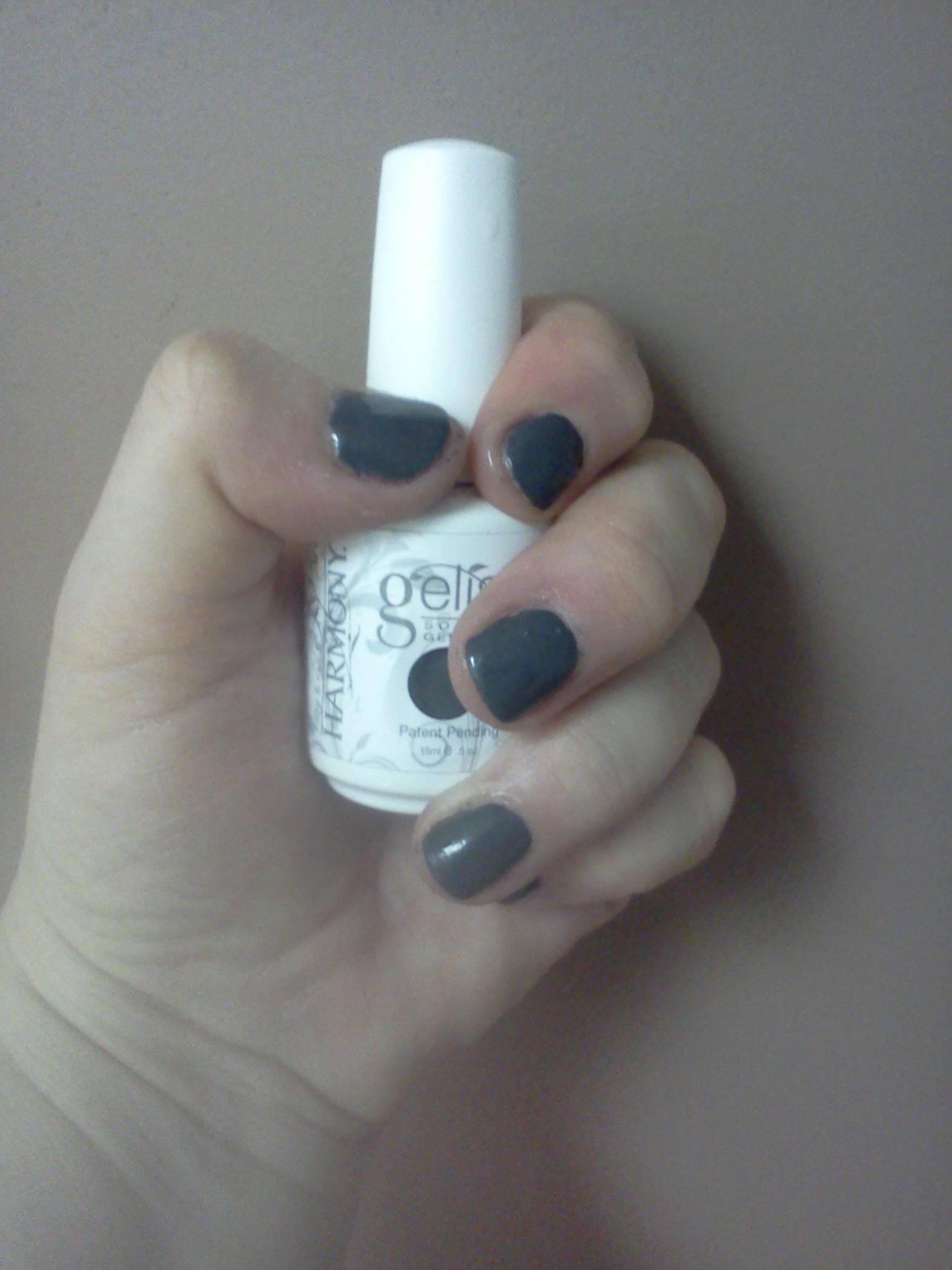 gel polish, grey