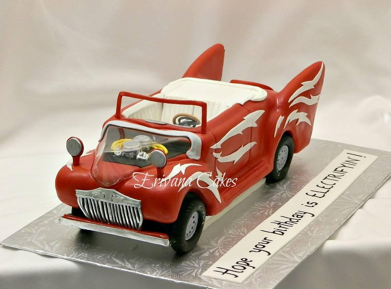 GREASE Car cake