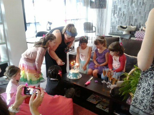Happy Birthday with a cake