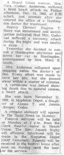 Anderson, Cora Coder 1962