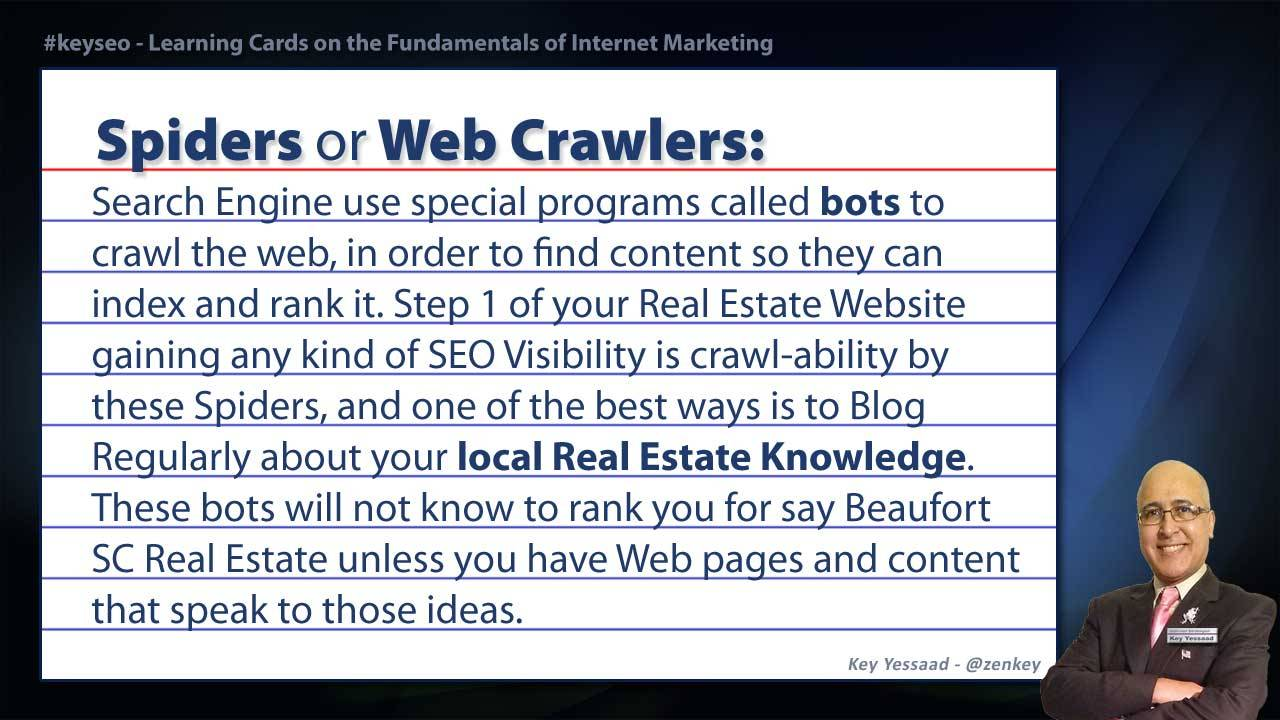 Spiders or Web Crawlers - SEO Short Definition for Real Estate