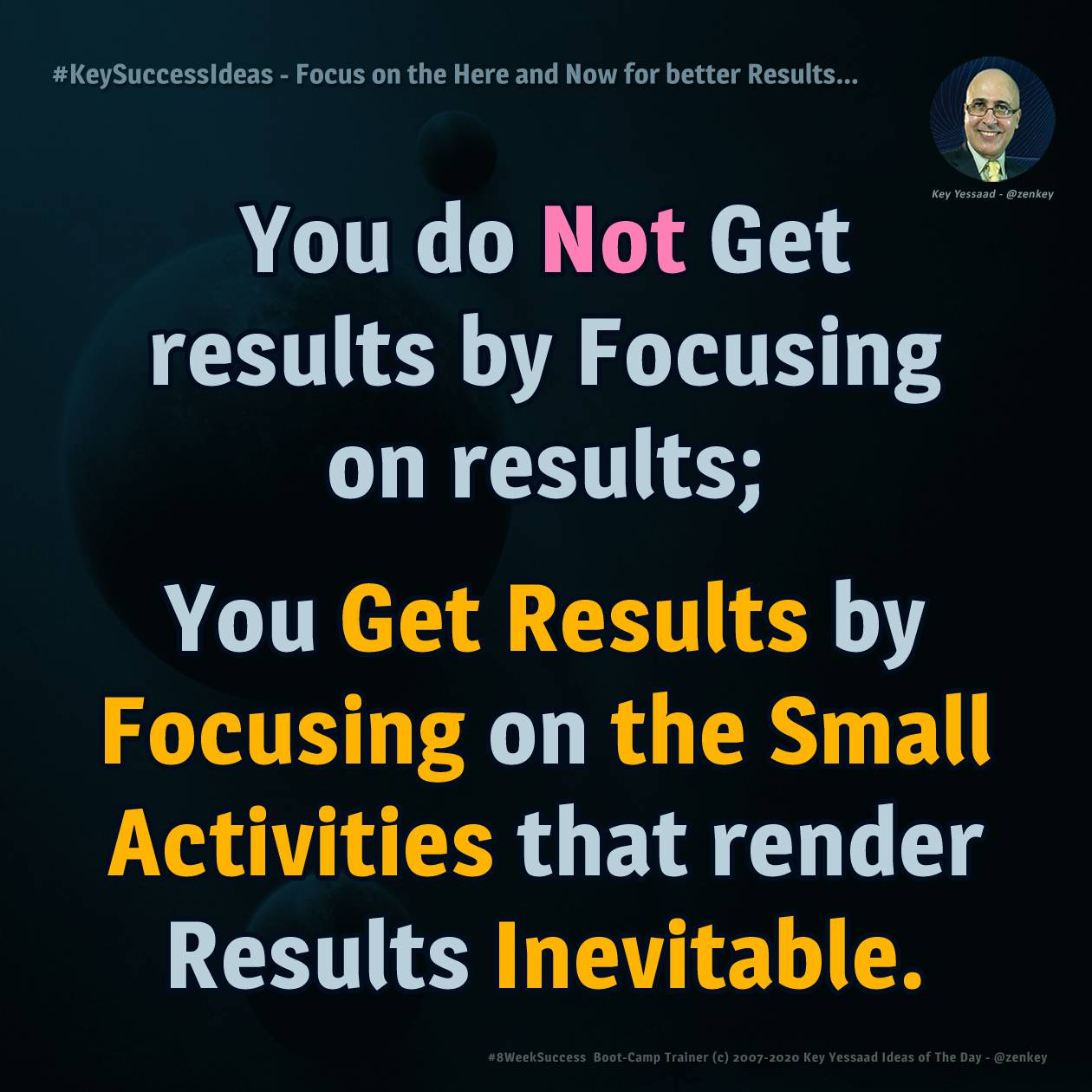 Focus on the Here and Now for better Results... - #KeySuccessIdeas