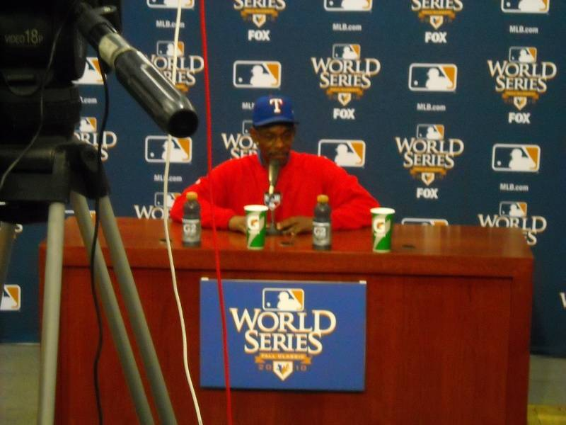 Ron Washington press conference at World Series