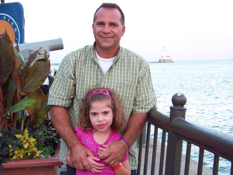 Haley and Daddy on Navy Pier in Chicago