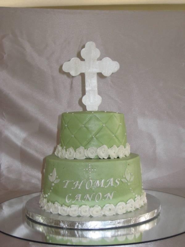 Greek Orthodox Baptism Cake