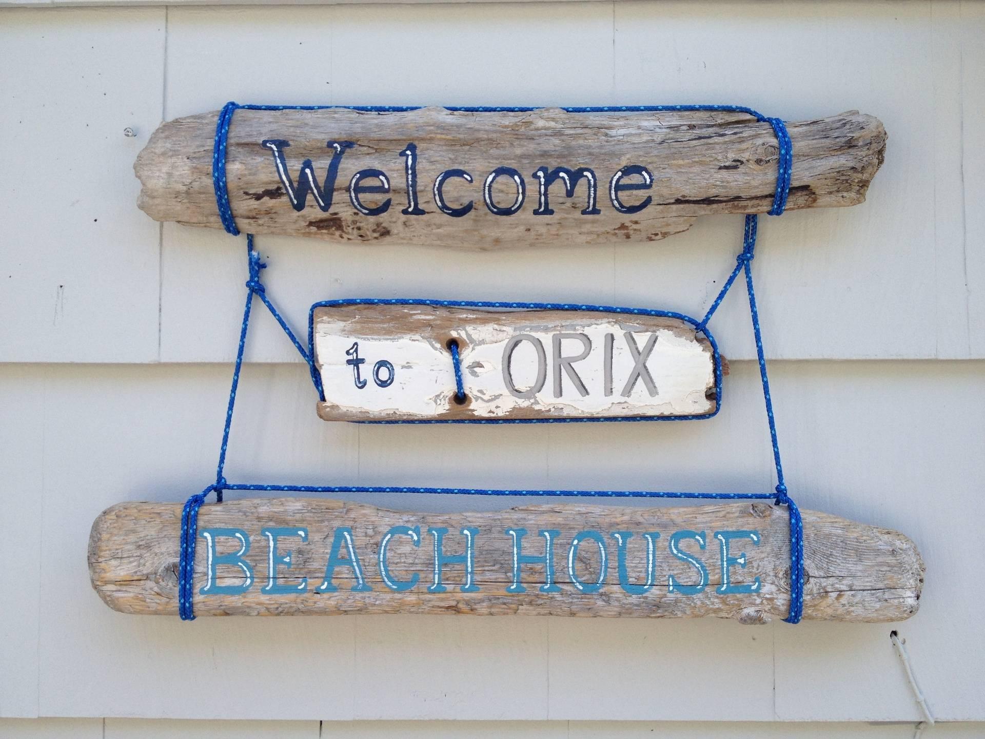 Beach House Name sign