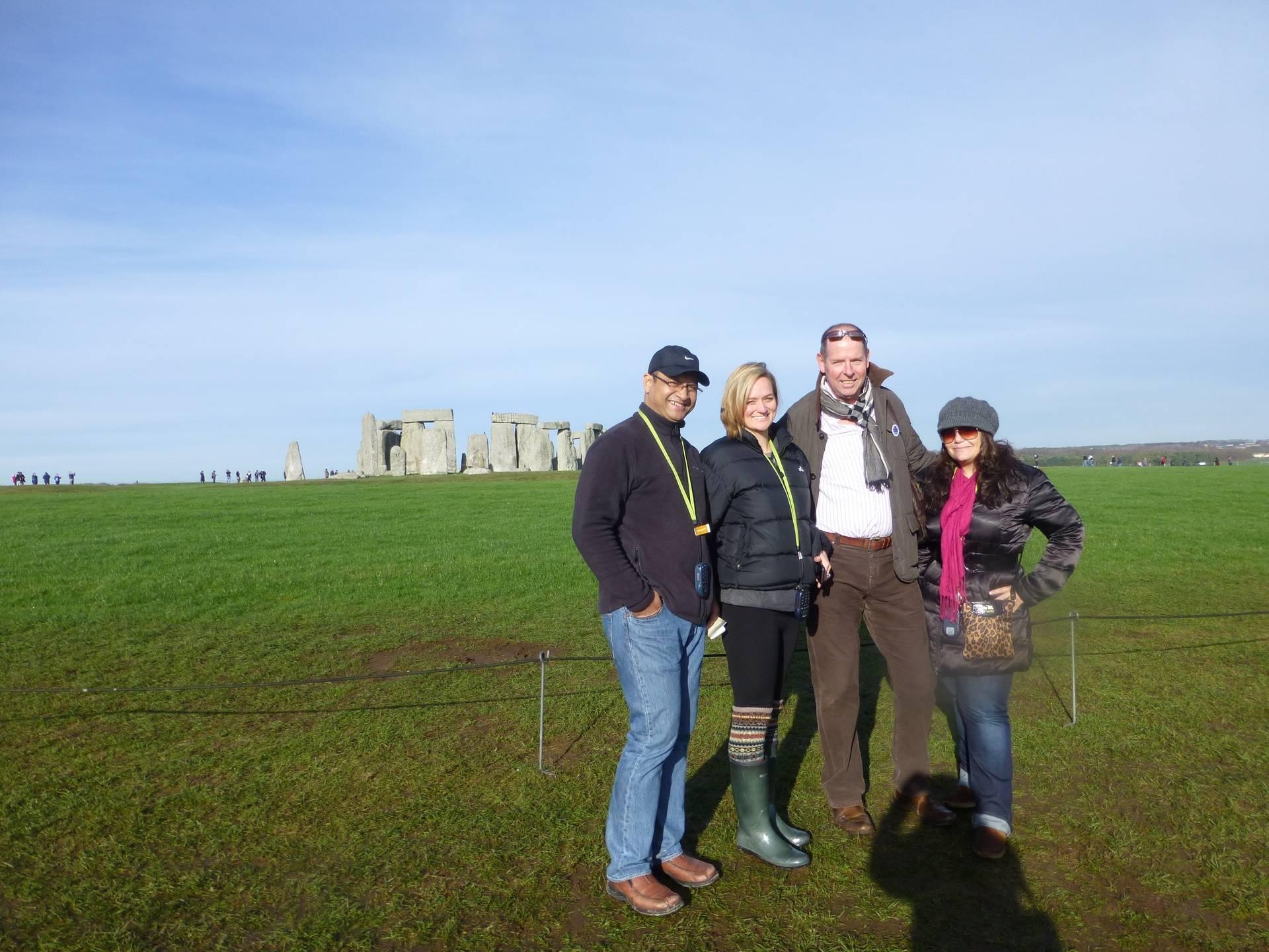 Rajit, Steph, Luci (and me!), Stonehenge