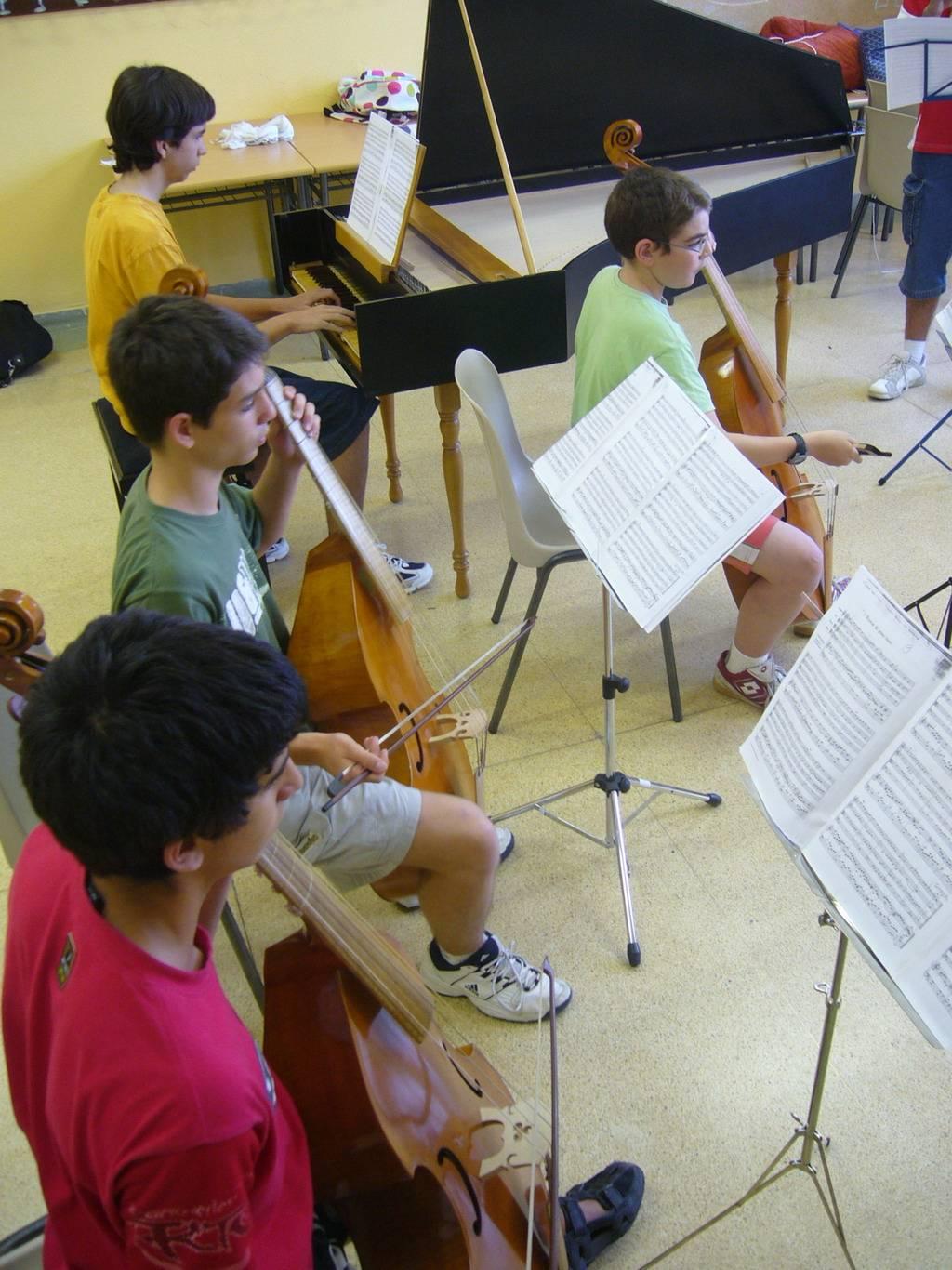 Ensayo del Ensemble de MUSICA antigua