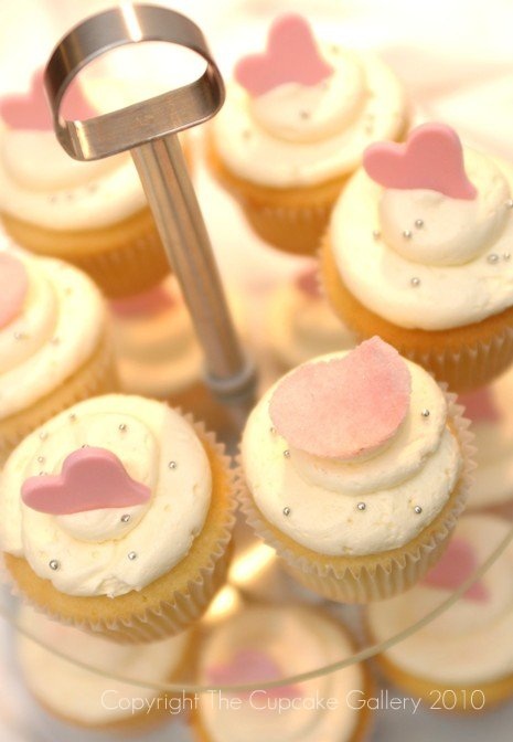 Love hearts and sugared rose petals