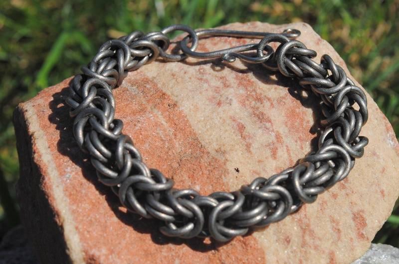 Titanium Byzantine Bracelet