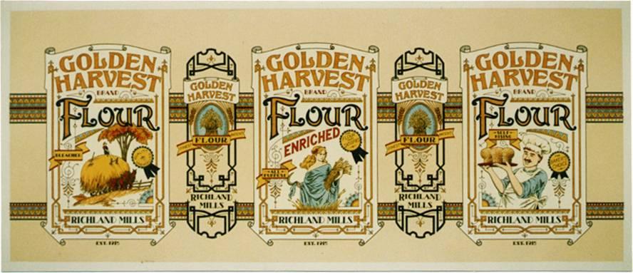Flour tin label (Nostalgia series)