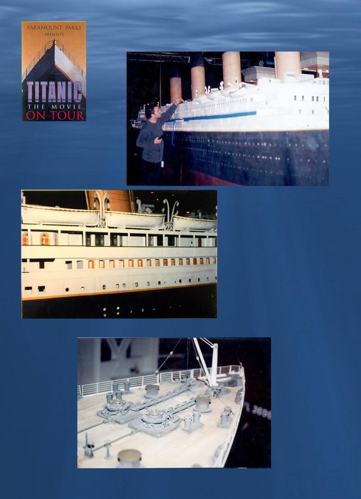 "Titanic model repair, ""Titanic:  The Movie on Tour"""