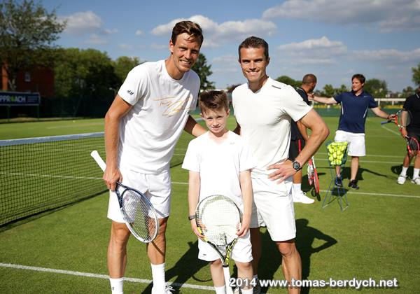 Tomas Berdych and guests