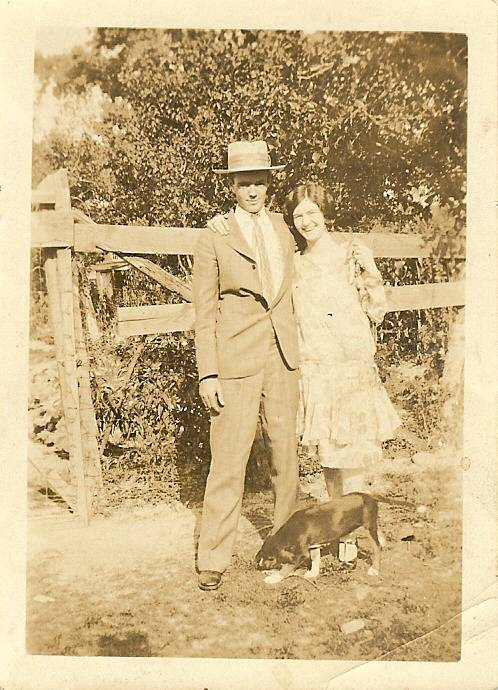 Hubert Linwood Raburn Sr and Margaret Stella Ainsley Raburn 1928