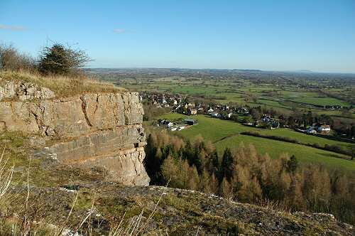 top of Llanymynech Rock