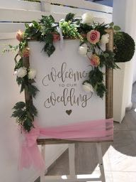 Welcome to our wedding board and easel.
