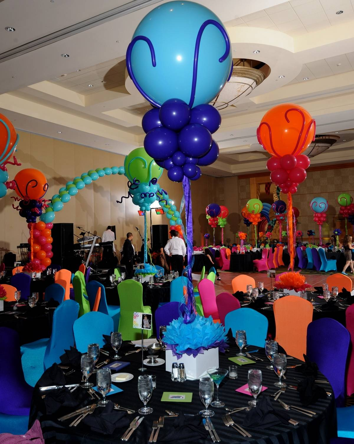 Balloon Centerpieces at Bat Mitzvah