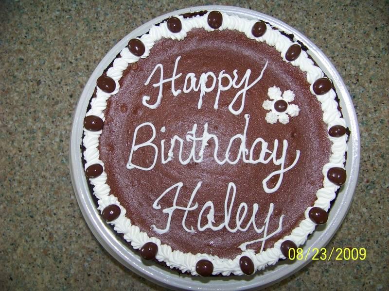 Haley's Birthday Cheesecake!