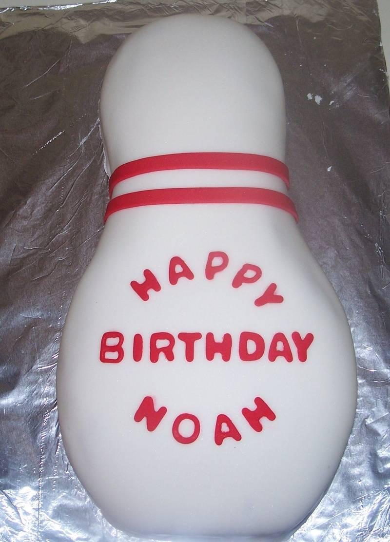 Bowling Pin Cake personalized