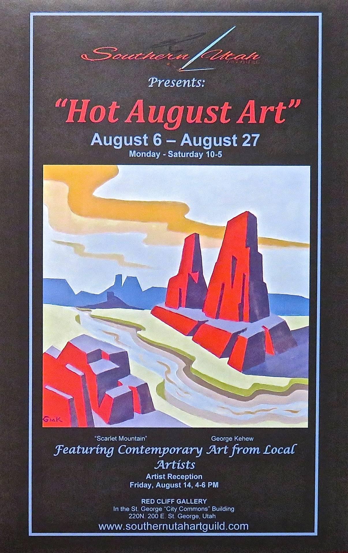 Hot August Art Poster