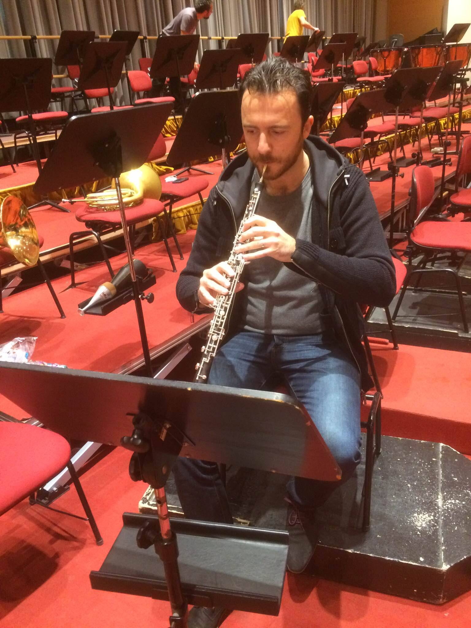 Fabien Thouand going over some things at La Scala