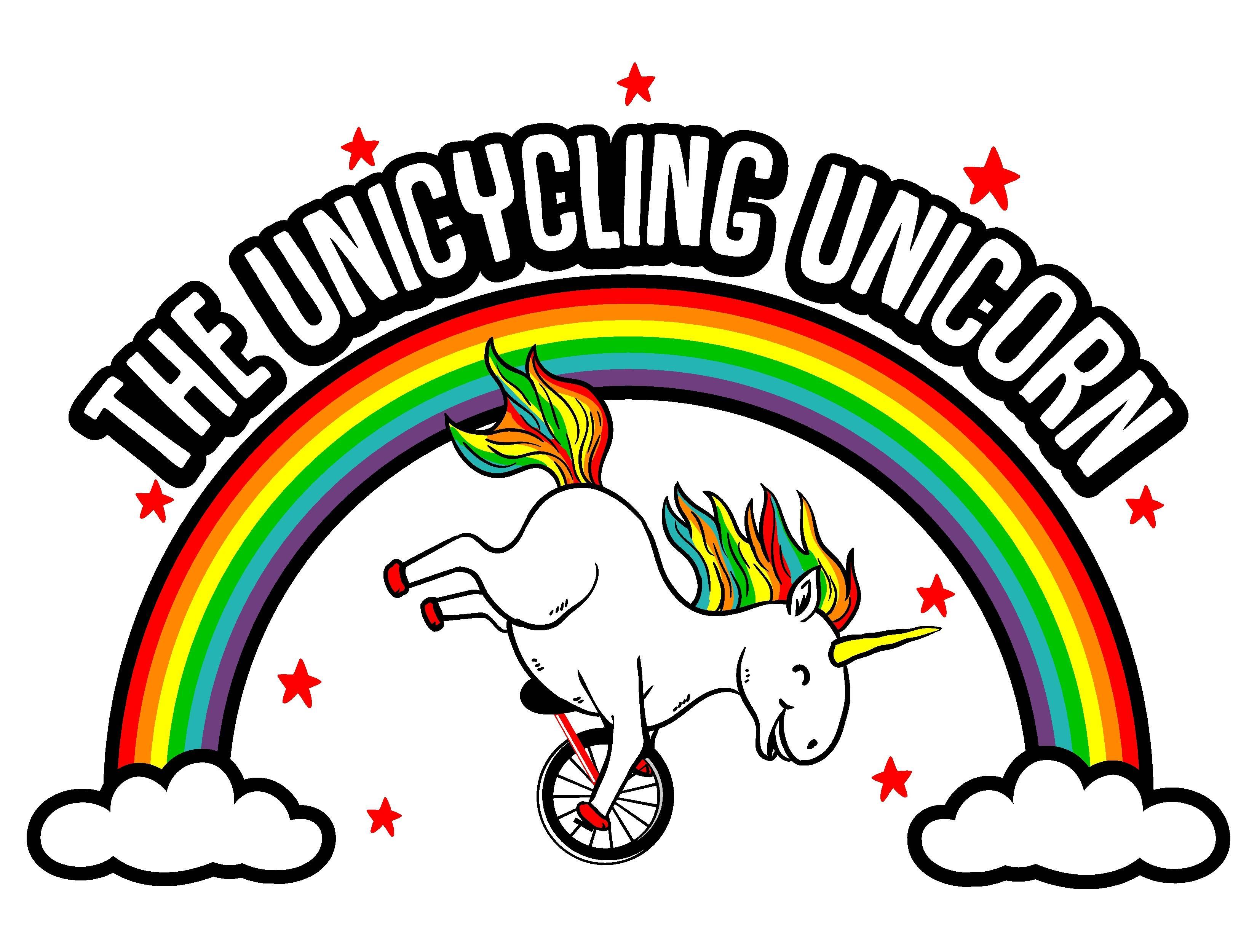 The Unicycling Unicorn Logo
