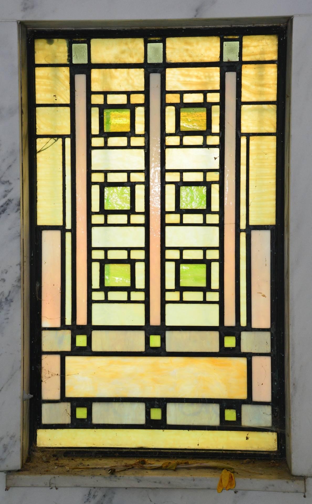 Art Glass inside back wall