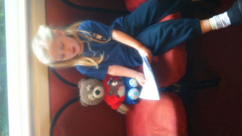 Singing with the School Bear