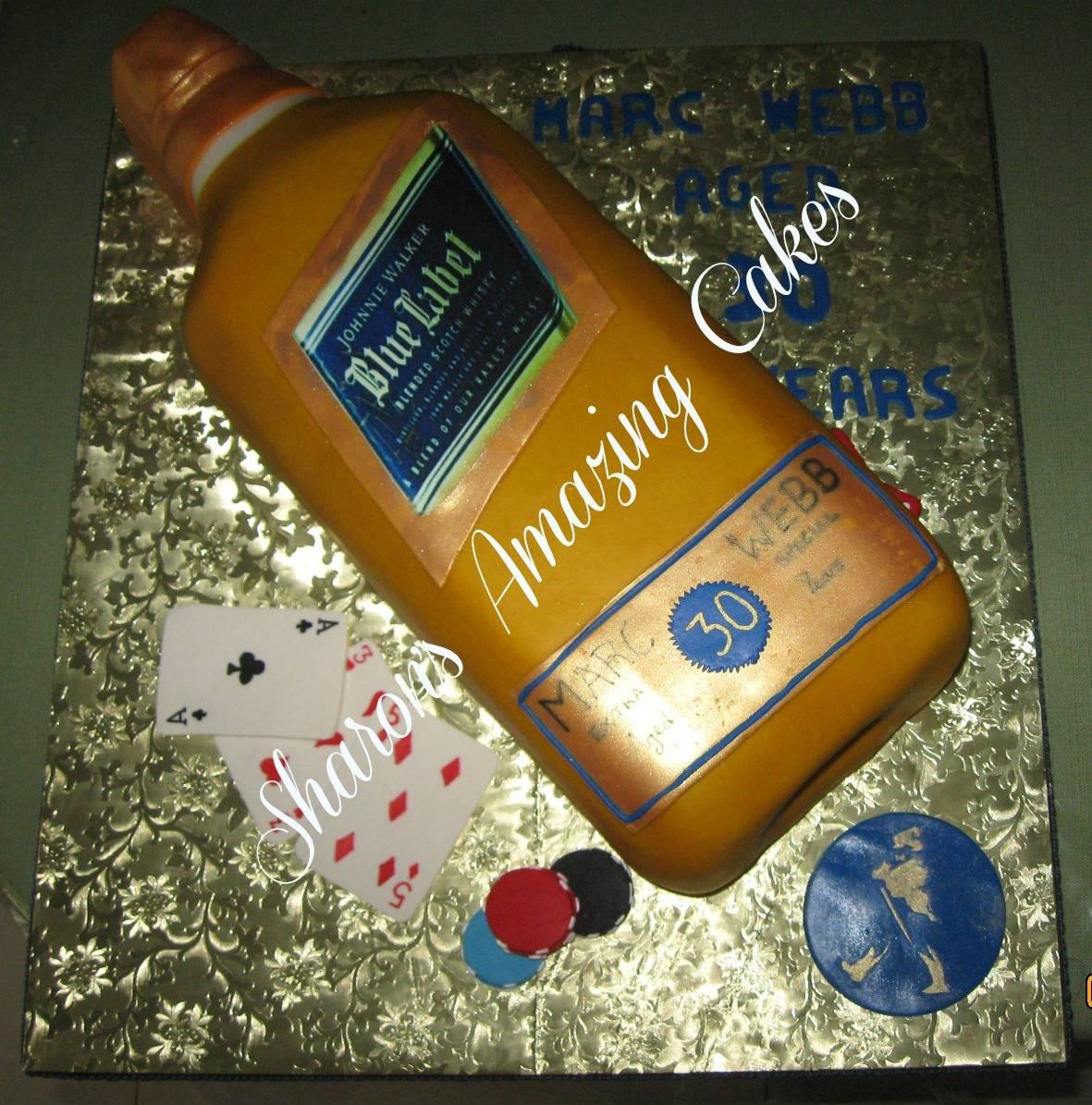 CAKE 40A1 -Johnny Walker Bottle Cake