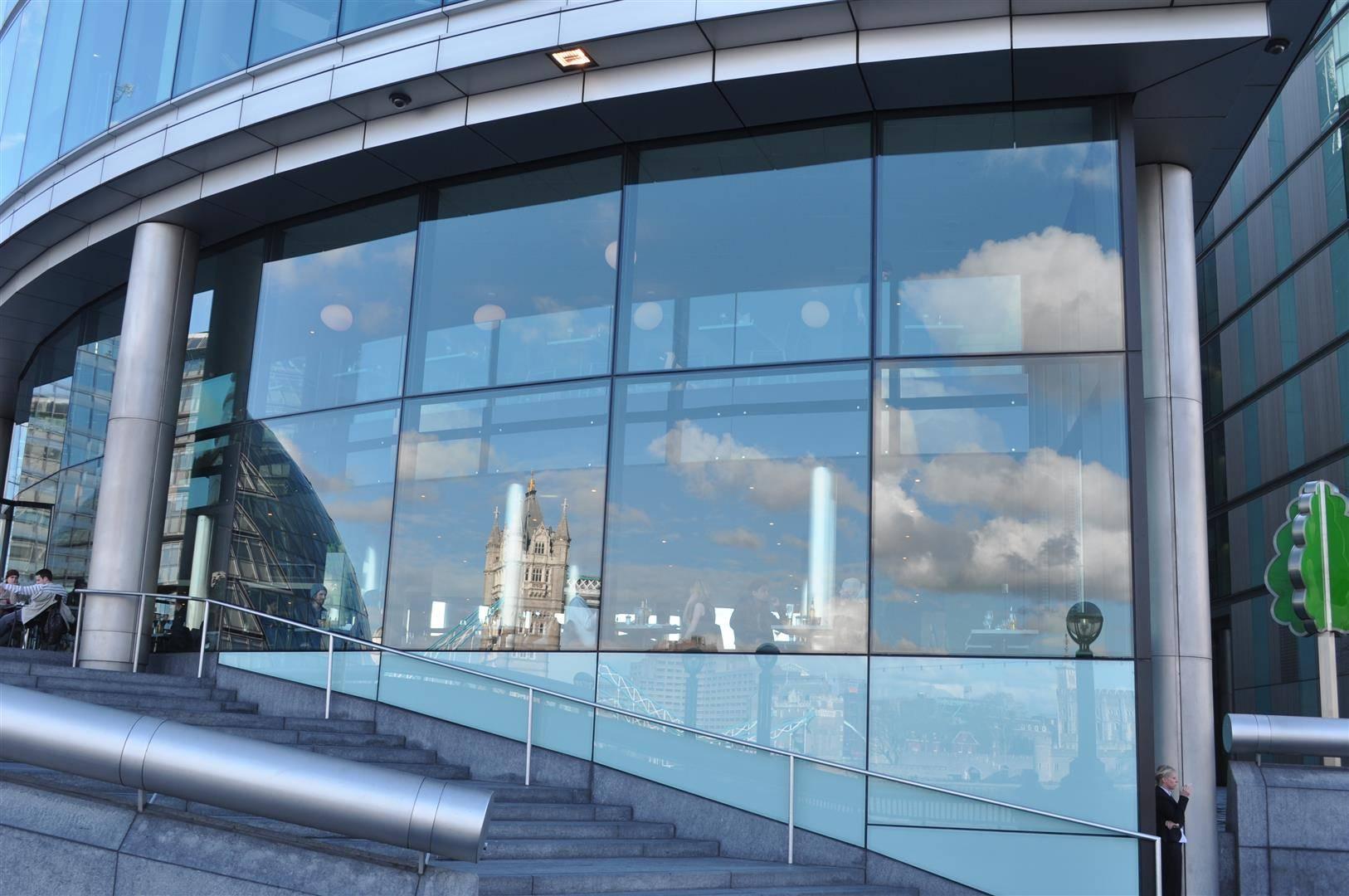 Tower Bridge Reflection, Queen's Walk, Thames River, London