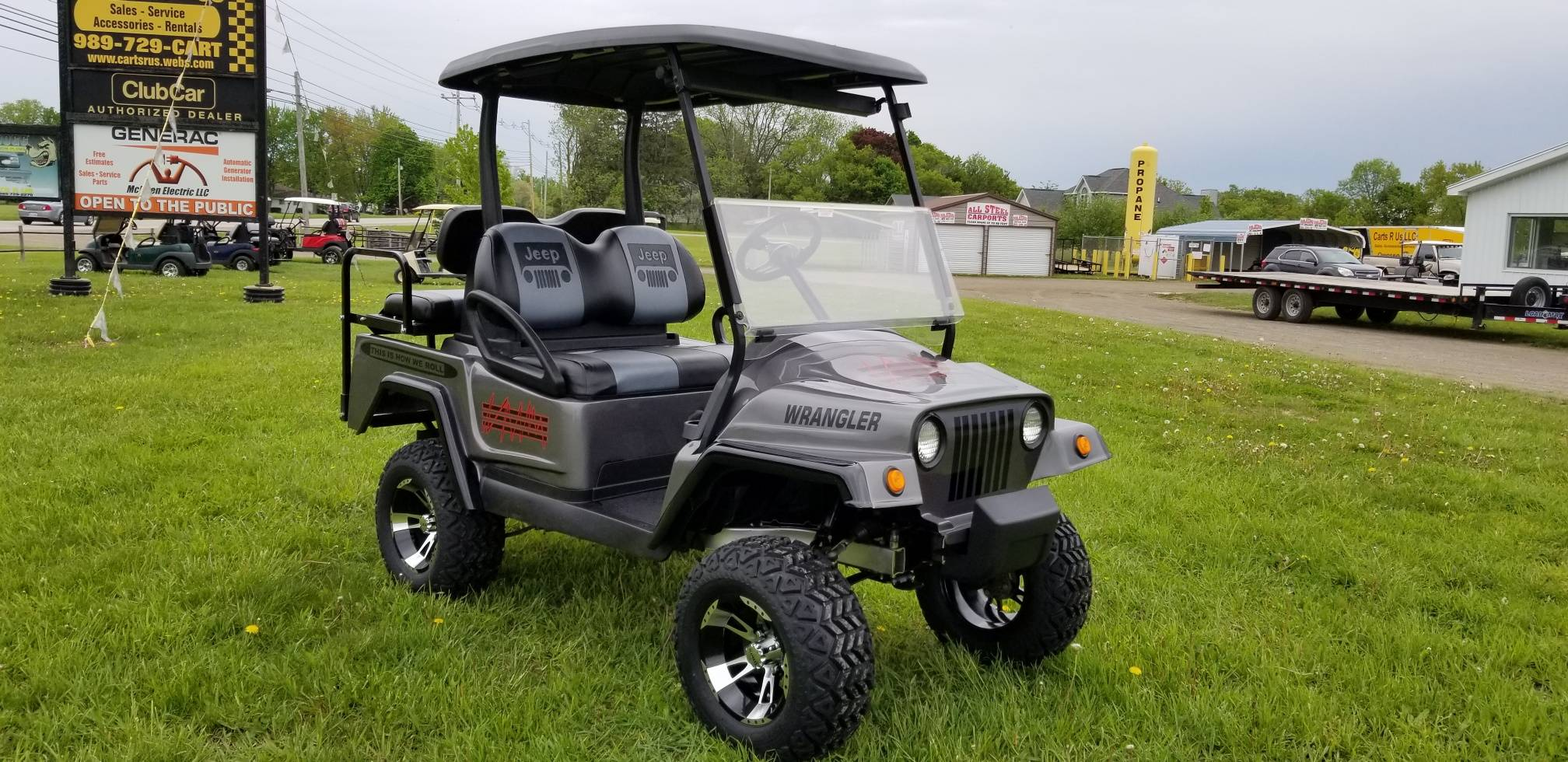 2015 Club Car Precedent with Jeep Body