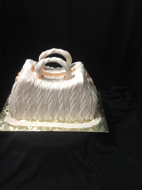 Beige Purse cake