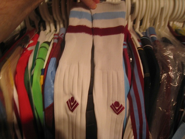 Away players socks 1989/90