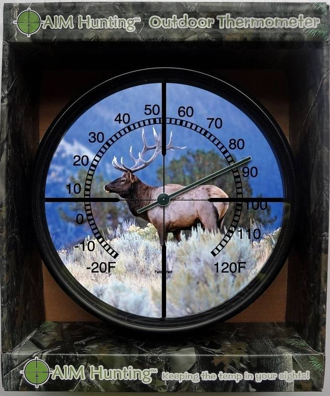 Mountain Elk Metal Thermometer
