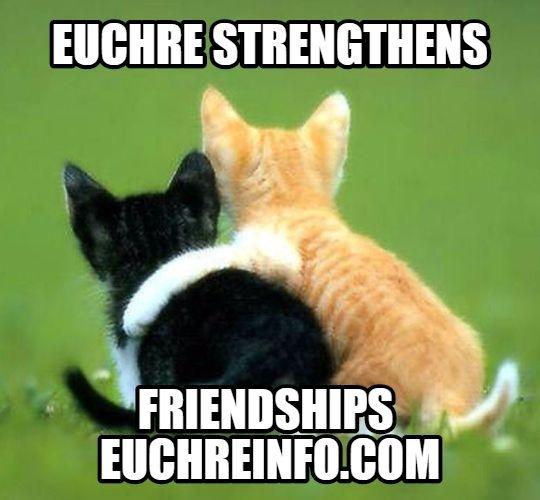 Euchre strengthens friendships.