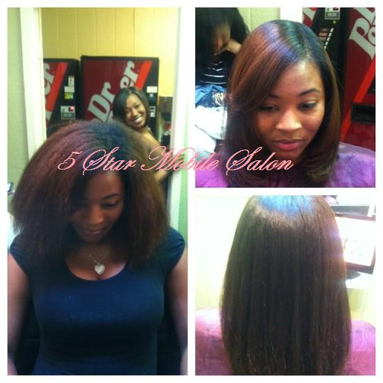 Before and After hair styles