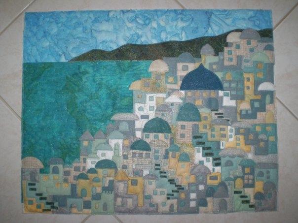 San Torini - wall quilt